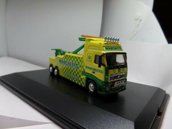 Oxford 76VOL08REC VOL08REC 1:76 Scale Volvo FH Boniface Recovery Truck Manchetts